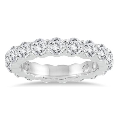 AGS Certified Diamond Eternity Band in 14K White Gold (3.20 - 3.80 CTW)