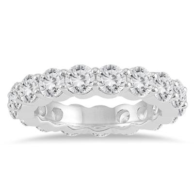 AGS Certified Diamond Eternity Band in 14K White Gold (3.75 - 4.25 CTW)