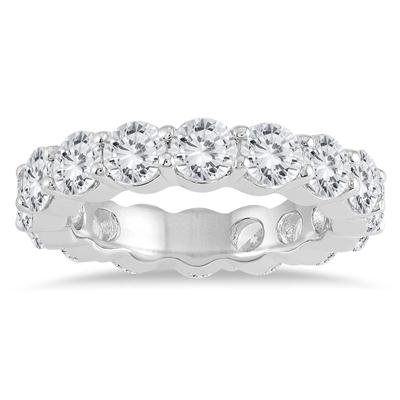 AGS Certified Diamond Eternity Band in 14K White Gold (4.62 - 5.61 CTW)