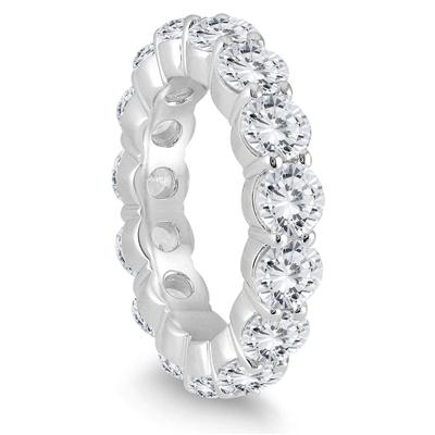 AGS Certified Diamond Eternity Band in 14K White Gold (5.20 - 6 CTW)