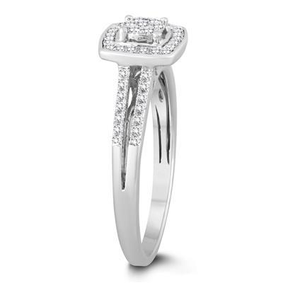 1/4 Carat TW Diamond Engagement Ring in 10k White Gold