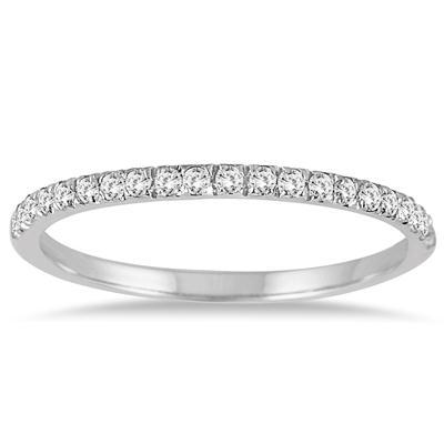 1/5 Carat TW Diamond Wedding Band in 14K White Gold