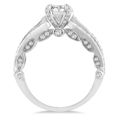 1 1/2 Carat TW Diamond Engagement Ring in 10K White Gold