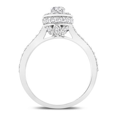 1 1/3 Carat TW Diamond Engagement Ring in 10K white Gold
