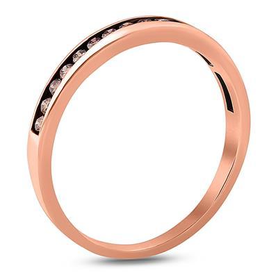 1/2 Carat TW Brown Diamond Band in 10K Rose  Gold