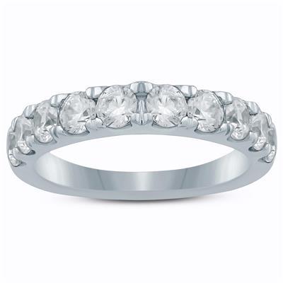 1 Carat TW Diamond Wedding Band in 10K White Gold