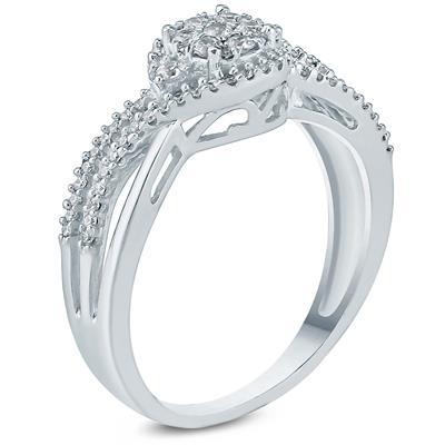 1/3 Carat TW Diamond Engagement Ring in 10K White Gold