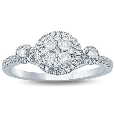 1/2 Carat TW Diamond Engagement Ring in 10K White Gold