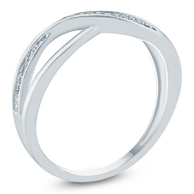 Diamond Accent Fashion Ring 10K White Gold