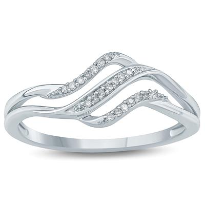 Diamond Accent Fashion Ring 10K White  Gold