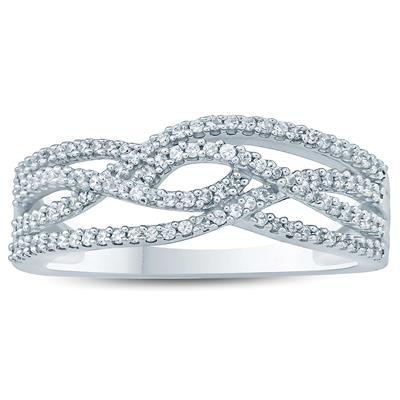 1/3 Carat TW Diamond Band 10K White  Gold