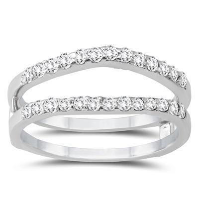 1/2 Carat TW Diamond Insert Ring in 14K White Gold