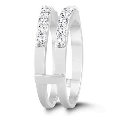 1 Carat TW Diamond Insert Ring in 14K White Gold