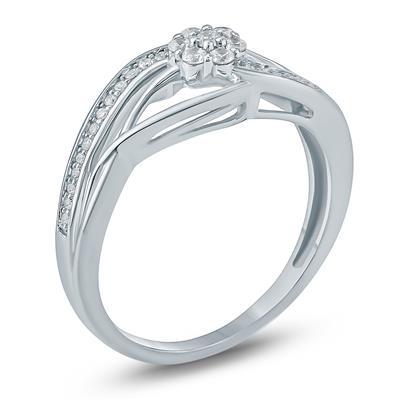 1/5  Carat TW Diamond Fashion Ring in 10K White Gold