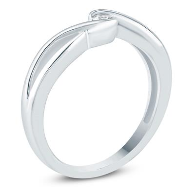 1/10 Carat TW Diamond Fashion Ring in 10K White Gold