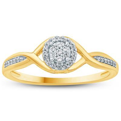 1/10 Carat TW Diamond Fashion Ring in 10K Yellow Gold