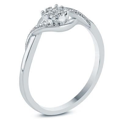 1/8 Carat TW Diamond Fashion Ring in 10K White Gold