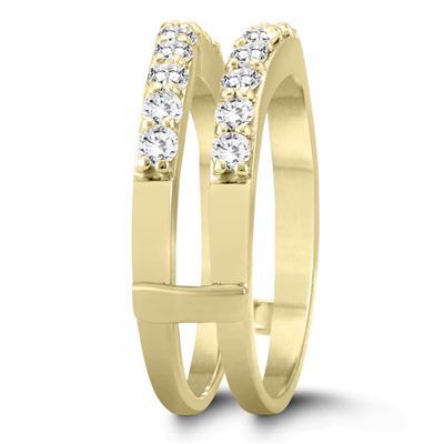 1 Carat TW Diamond Insert Ring in 14K Yellow Gold