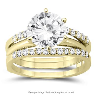 1/2 Carat TW Diamond Insert Ring in 14K Yellow Gold