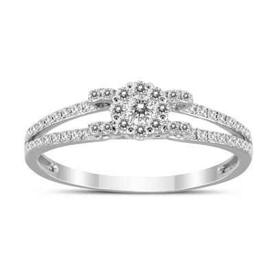 1/4 Carat TW Diamond Ring in 14K White Gold.