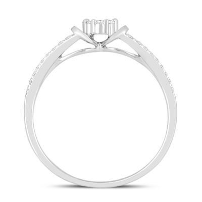 1/4 Carat TW Diamond Engagement Promise Ring in 14K White Gold