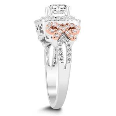 1 3/8 Carat TW Diamond Halo Engagement Ring in 14K White Gold (H-I Color, I1-I2 Clarity)
