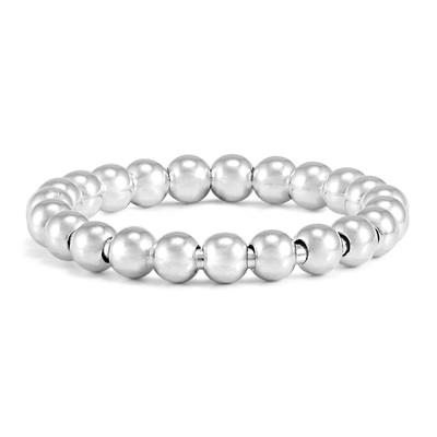 3MM Beaded Ball Ring in .925 Sterling Silver