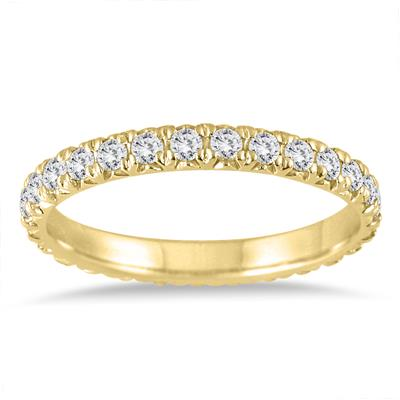 cdb490d1cdae5e 1 3/8 Carat TW Diamond Eternity Wedding Band in 14K Yellow Gold ...