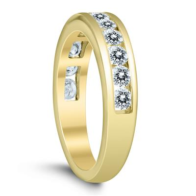 1 Carat TW Channel Set Diamond Band in 10K Yellow Gold