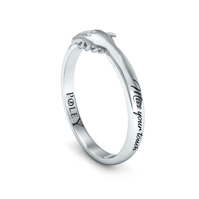 Ted Poley Miss Your Touch Hand in Hand Ring in 10K White Gold