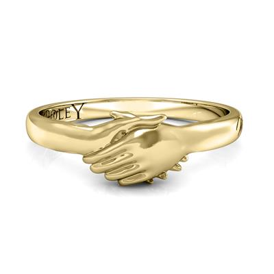 Ted Poley Miss Your Touch Hand in Hand Ring in 10K Yellow Gold