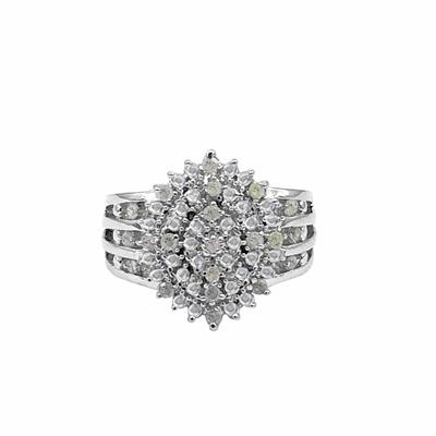 3/8 Carat TW Diamond Cocktail Ring in .925 Sterling SIlver
