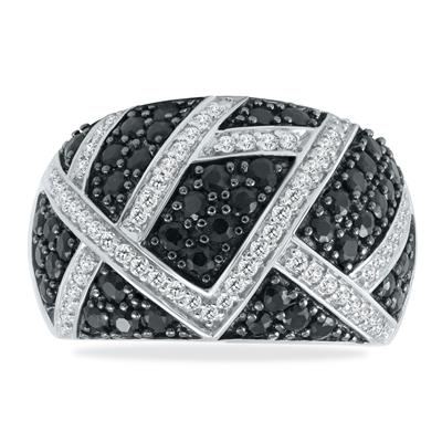 Szul Diamond Cluster Ring in .925 Sterling Silver