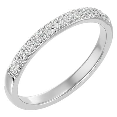 1/4 Carat TW Moissanite Wedding Band In Sterling Silver