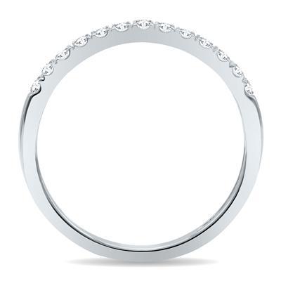 1/4 Carat TW 2MM Round Diamond Wedding Band in 10K White Gold