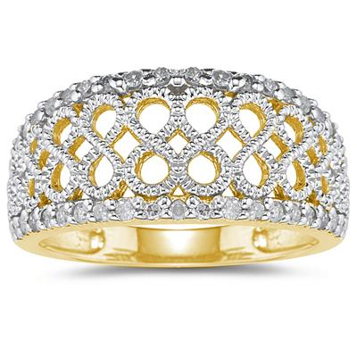 Diamond Rope Twist Ring in Yellow  Gold