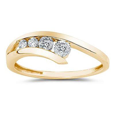 Diamond Journey Ring In 14K Yellow Gold