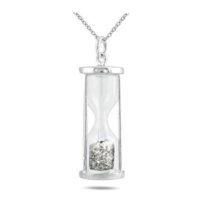 1/2 Carat TW Diamond Time in a Bottle Pendant in .925 Sterling Silver