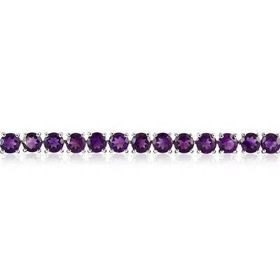 17 Carat Amethyst Bracelet in .925 Sterling Silver
