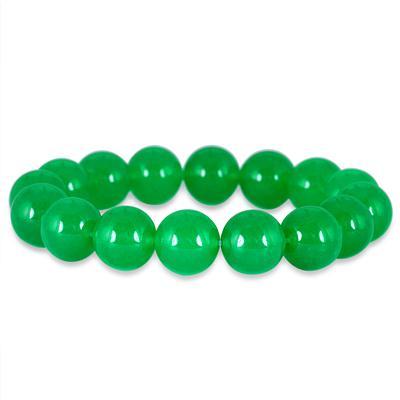 200 Carat All Natural Jade Bead Bracelet
