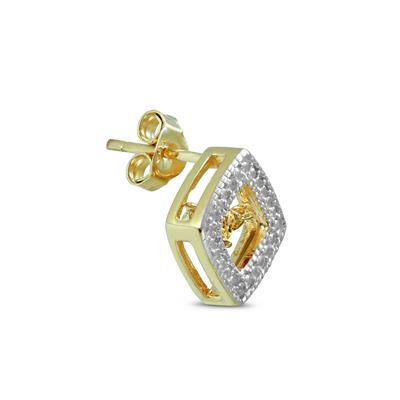 Citrine and Diamond Dancer Earrings in .925 Sterling Silver