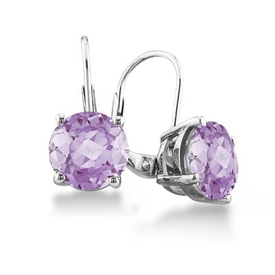 5 Carat TW Amethyst Drop Earrings in .925 Sterling Silver