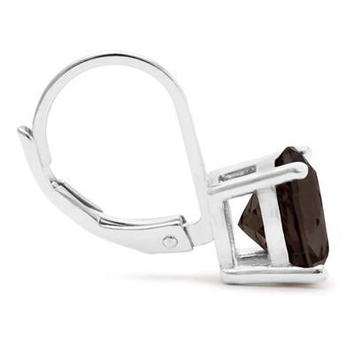 5 Carat TW Smokey Quartz Drop Earrings in .925 Sterling Silver