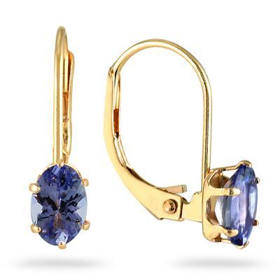 Tanzanite Earrings in 14kt Yellow Gold