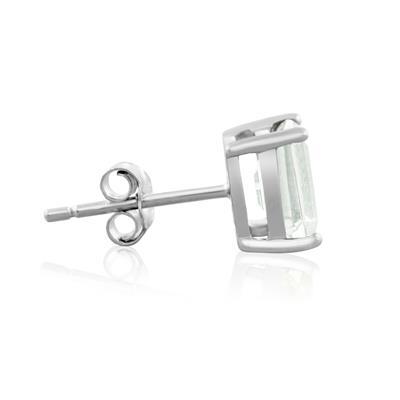 3 Carat TW Green Amethyst Earrings in Sterling Silver