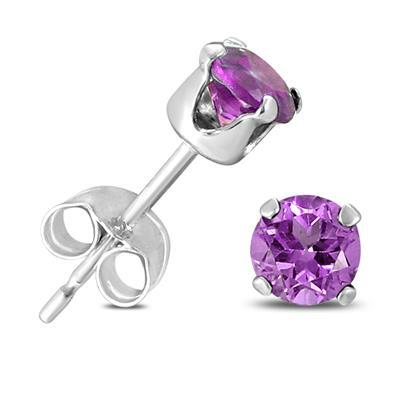 Genuine Semi-Precious Gemstone Studs Earring 5 Pair Gift Set in .925 Sterling Silver