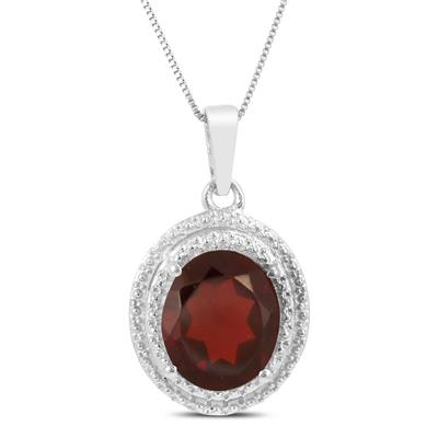 Garnet Royal Pendant in .925 Sterling Silver