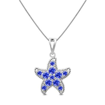 Tanzanite Starfish Pendant in .925 Sterling Silver