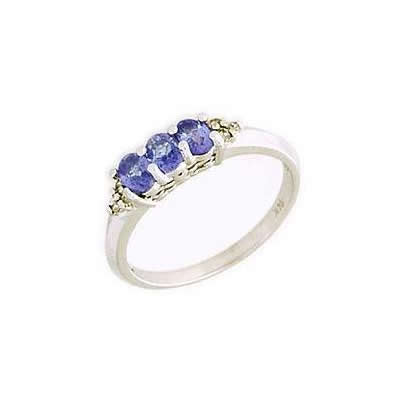 Tanzanite Gemstone and Diamond Crown Ring