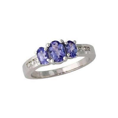 Tanzanite and Diamond Channel Ring